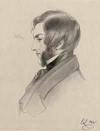 NPG D22523; Francis Cynric Sheridan by Richard James Lane, after  Sir Edwin Henry Landseer